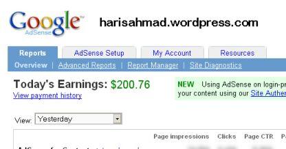 Dolar dari google adsense